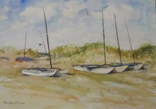 Maryann Burton; Ocean City Hobie Cats, 2013, Original Watercolor, 20 x 14 inches. Artwork description: 241       Painted Plein Aire      ...