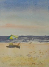 Artist: Maryann Burton's, title: Ocean City September, 2013, Watercolor
