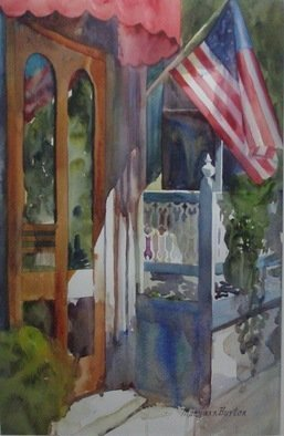 Maryann Burton; Victorias, 2010, Original Watercolor, 22 x 29 inches. Artwork description: 241  Depicts Victorias in Cape May, NJ.  Accepted for display at NJWCS 67th Annual Open Exhibition. ...