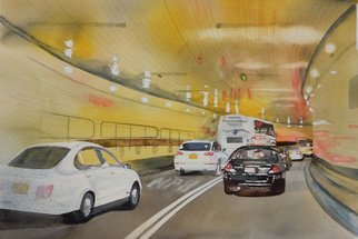 Maryann Burton, Tunnel vision, 2016, Original Watercolor, size_width{tunnel_vision-1483388271.jpg} X 22 x  inches