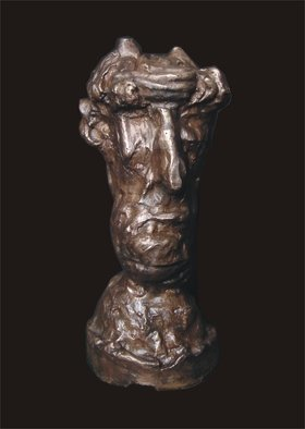 Matiass Jansons; Mefo, 2015, Original Sculpture Bronze, 21 x 44 cm.