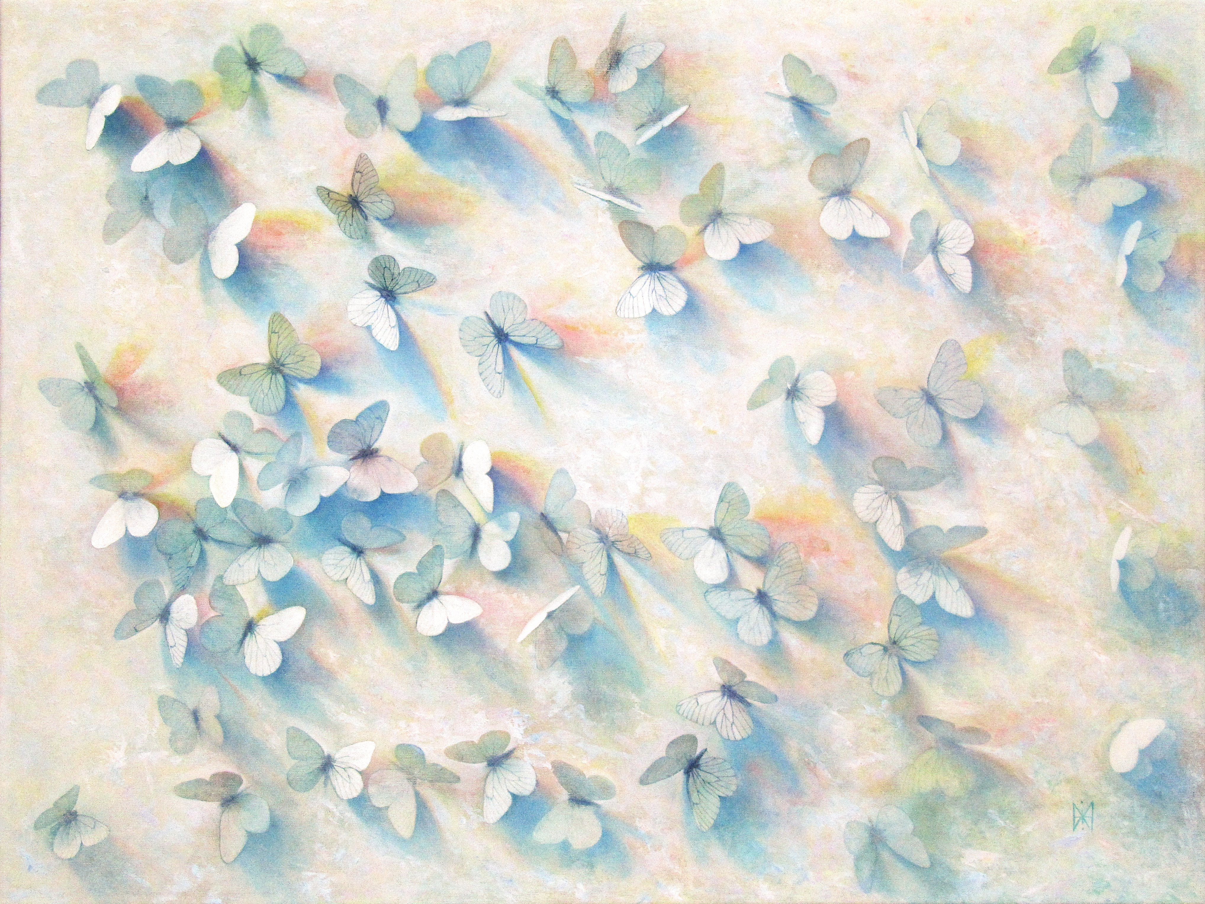 Yuriy Matrosov; Composition With Butterflies, 2018, Original Painting Oil, 31.5 x 23.6 inches. Artwork description: 241 This trompe l oeil depict realistically rendered white butterflies.  For this painting, I applied several layers of paint to the canvas in classic oil painting technique.  I used a strong light and heavy shadows to create depth in a painting and a centre of interest.  Hanging hardware ...