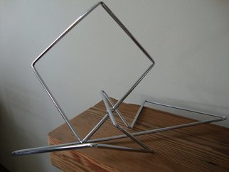 Max Tolentino; GEOMETRY, 2016, Original Sculpture Steel, 30.2 x 30 cm. Artwork description: 241  Steel sculpture in chromed wire , not available ...