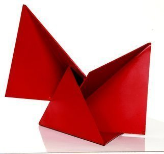Max Tolentino; ORIGAMI, 2008, Original Sculpture Steel, 30.2 x 30 cm. Artwork description: 241  Steel painted sculpture, not ready for delivery ...