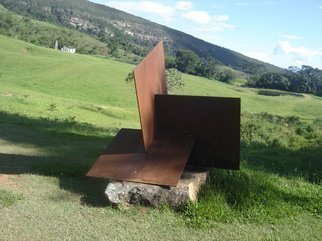 Max Tolentino; TRILOGIA , 2011, Original Sculpture Steel, 120 x 120 cm. Artwork description: 241   Steel sculpture instaled at Pousada de Ibitipoca Airport , Ibitipoca - MG, Brasil - Wight : 720 kg    ...