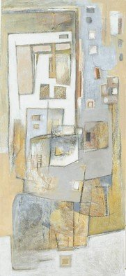 Mayra Lifischtz; MY HOUSE, 2006, Original Painting Acrylic, 50 x 110 cm. Artwork description: 241  MONOCROMATIC, ABSTRACT ...