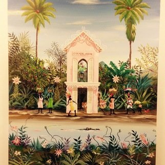Marc Beauregard; Garden House, 2017, Original Giclee Reproduction, 24 x 30 inches. Artwork description: 241 Carribean fantasy...