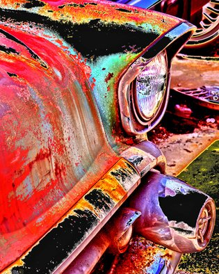 Maureen Chase; Junkyard In My Mind, 2010, Original Photography Color,   inches. Artwork description: 241   old Chevy  ...
