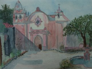 Michael Cucci;  Carmel Mission Basilica, 2008, Original Watercolor, 10 x 8 inches. Artwork description: 241  I love the paint the missions of California and Carmel is one of my favorites ...