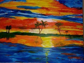 Israel Miller; Brilliant Sunset, 2018, Original Painting Acrylic, 20 x 16 inches. Artwork description: 241 brilliant sunset...