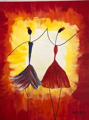 Israel Miller; Dancers, 2019, Original Painting Acrylic, 16 x 20 inches. Artwork description: 241 my ballarinas...
