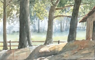Mintu Maji; Sunny Day, 2013, Original Watercolor, 8 x 6 inches. Artwork description: 241              water color/ painting/ water color/ landscape/ bengal art/ benga village/ drawings   water color/ painting/ landscape/ drawing         ...