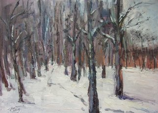 Meg Cheung; Russian Snow, 2005, Original Painting Oil, 14 x 10 inches.