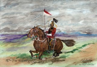 Mel Beasley; 16th Royal Lancer, 2018, Original Painting Other, 11 x 8 inches. Artwork description: 241 Mounted 16th Lancer. ...