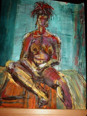 Melcha C; African Roots , 2007, Original Painting Oil, 18 x 24 inches. Artwork description: 241 mixed media, painting, nude model, female...