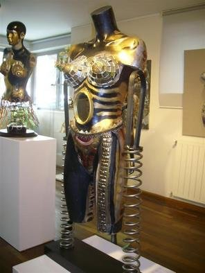 Selin Melek Aktan; Beauty Of Night, 2009, Original Sculpture Mixed, 100 x 120 cm. Artwork description: 241               Selin Melek Aktan, woman, fashion, cloths, figurative, bronze, human, people, mixed media, night, beauty, avangard sculpture, art contemporary       ...