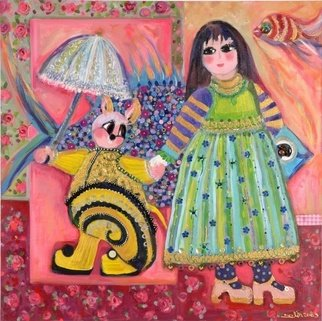 Selin Melek Aktan; Fairytale, 2009, Original Mixed Media, 90 x 90 cm.
