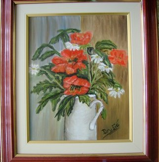Meliha Druzic; Poppy, 2006, Original Painting Oil, 30 x 40 cm.