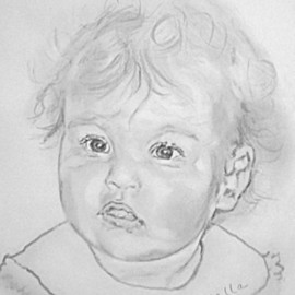 Carmella D'Auria, , 2002, Original Drawing Pencil, size_width{Gianna_Marie-1036869689.jpg} X 20 inches