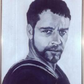 Carmella D'Auria, , 2001, Original Painting Acrylic, size_width{Russell_Crowe_Gladiator-1005064853.jpg} X 24 inches