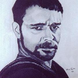Carmella D'Auria, , 2001, Original Painting Acrylic, size_width{Russell_Crowe_Gladiator-998506629.jpg} X 24 inches
