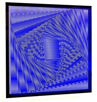Youri Messen-Jaschin; Perpetuum Mobile XIII, 2018, Original Printmaking Serigraph, 670 x 670 mm. Artwork description: 241 What you do not see in the video is the 3 dimension.The camera can not yet captured this dimension, certainly in the future, not today.Perpetuum MobileOp art670 x 670 x 50 mmPlexiglas and Oil paintingA(r) by Prolitteris 8032 ZA1/4richA(c) 2018 Youri ...