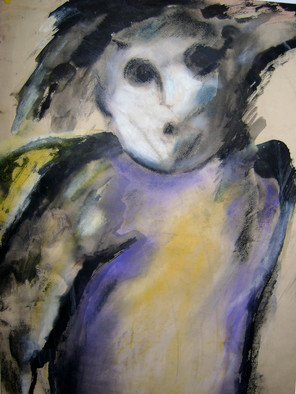 Marcela Obregon; Si Acaso El Angel Me Mirara, 1997, Original Pastel,   inches. Artwork description: 241  Mix charcoal and Indian Ink  ...