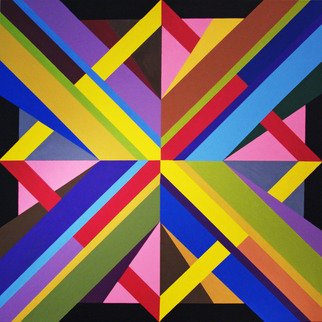 Michael Griesgraber; X Diamond, 2012, Original Painting Acrylic, 48 x 48 inches. Artwork description: 241  X colorful geometric abstraction ...