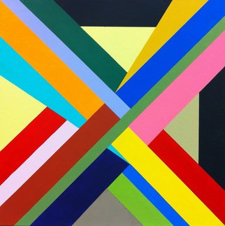 Michael Griesgraber; X Series 1, 2012, Original Painting Acrylic, 24 x 24 inches. Artwork description: 241    X colorful geometric abstraction   ...