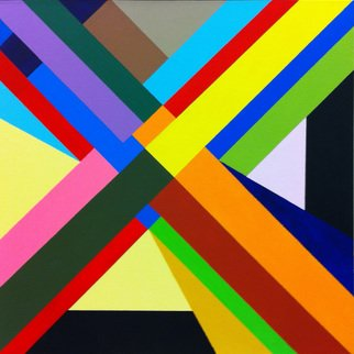 Michael Griesgraber; X Series 2, 2012, Original Painting Acrylic, 24 x 24 inches. Artwork description: 241     X colorful geometric abstraction    ...