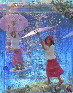 Micha Nussinov; Umbrella Girl, 2008, Original Photography Other, 80 x 120 cm. Artwork description: 241  An image that arose uplifting sensation from a real to fantasy world of child.It is printed on canvas,' Giclee print' , can be printed on other materials, in different sizes  ...