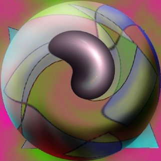 Michael Le Mmon; Jelybean Ball, 2017, Original Digital Print, 8 x 8 inches. Artwork description: 241 michael420le420mmon fine art computer generated image cgi art for sale...
