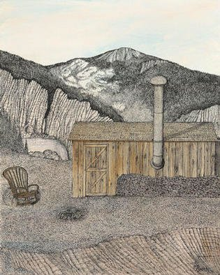 Michael Rusch; 3rd Miners Camp Triptych, 1999, Original Mixed Media, 16 x 20 inches. Artwork description: 241 Place in Nature( with broken chair)In the daily searching for future rewards, you might already found what your looking for....