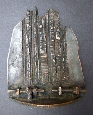 Michal Staszczak; Valley, 2007, Original Sculpture Bronze, 12 x 16 cm. Artwork description: 241  I created this work on the International Symposium of Cast Metal, Plaque and Small Sculpture in Uherske Hradiste ( the Czech Republic) ...