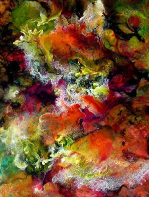 Micheline Hadjis; Envol Des Ecumes, 2006, Original Painting Acrylic, 20 x 26 inches. Artwork description: 241 26x20 FramedEnvol des ecumes. . . part of the Landscape Abstract. . . unique composition impossible to reproduce. . . fluid acrylics on japanese paper called Yupo ...