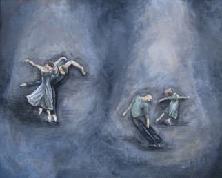 Michelle Iglesias; Dancers, 2005, Original Painting Acrylic, 20 x 16 inches.