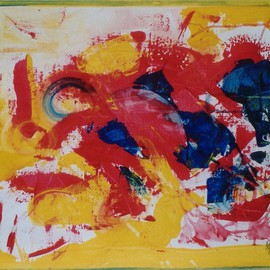 Michael Puya, , , Original Painting Acrylic, size_width{Composition_In_Red-1439992273.jpg} X 20 inches