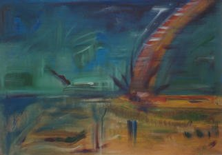 Michael Puya, 'Crash On Io', 2001, original Painting Acrylic, 39 x 27  x 1 inches.
