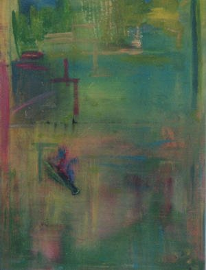 Michael Puya, 'Green Shine', 2001, original Painting Acrylic, 27 x 39  x 1 inches. Artwork description: 3483 70x100 cm....