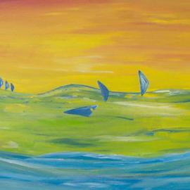Michael Puya, , , Original Painting Acrylic, size_width{Somewhere_At_The_Sea-1439725841.jpg} X 20 inches