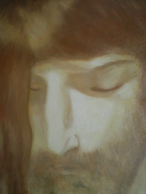 Mya Miyadri Miguel Moya Adriano; Christ, 2005, Original Painting Oil, 35 x 46 cm. Artwork description: 241  Religion. ...