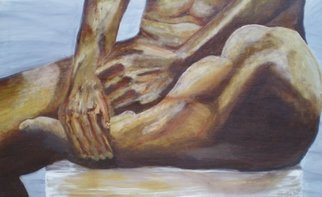 Mya Miyadri Miguel Moya Adriano; Nude Male, 2014, Original Painting Oil, 80 x 130 cm. Artwork description: 241  Nude Male...