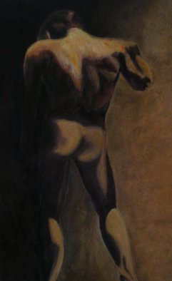 Mya Miyadri Miguel Moya Adriano; Nude Man, 2013, Original Painting Oil, 80 x 130 cm. Artwork description: 241 Nude Man...