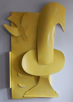 Mihail Simeonov; The Fountain, 2016, Original Sculpture Mixed, 42 x 63 inches. Artwork description: 241  aluminum wall sculpture  ...
