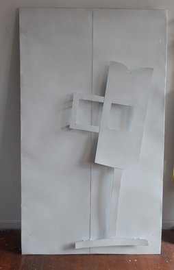 Mihail Simeonov; White On White, 2016, Original Sculpture Aluminum, 46 x 76 inches. Artwork description: 241    wall sculpture   ...