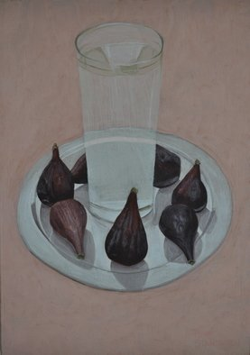 Mihai Stancescu; Figs And Water, 2009, Original Painting Tempera, 9 x 13 inches. Artwork description: 241  oil egg tempera on wood panel ...