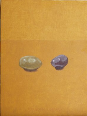 Mihai Stancescu; Two Olives, 2010, Original Painting Tempera, 6 x 8 inches. Artwork description: 241     oil egg tempera on wood panel    ...
