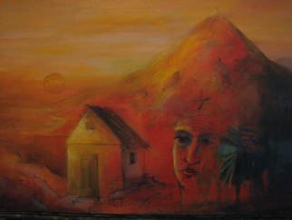 Sinisa Mihajlovic; From  The Red Mountain  , 2013, Original Painting Oil, 45 x 30 cm. Artwork description: 241  oil on canvas2012...