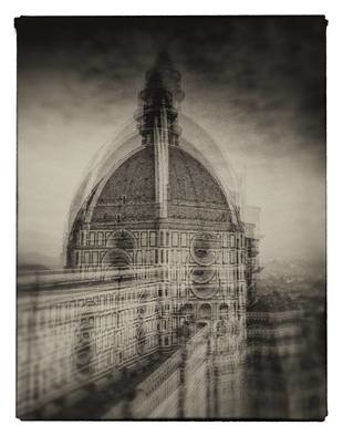 Milan Hristev; the duomo in florence, 2008, Original Photography Silver Gelatin, 30 x 40 cm. Artwork description: 241 This is part of my personal project I call  Camera Painting . In essence, it makes use of the old multi- exposure technique. But in my version I combined it in the camera itself from 2 to 5 exposures, to create these different take on the places I ...