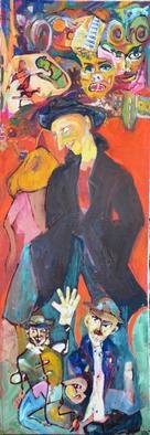 Milica Markovic Rajcevic; Meeting, 2011, Original Painting Oil, 60 x 170 cm. Artwork description: 241 A wonderful meeting, related souls...